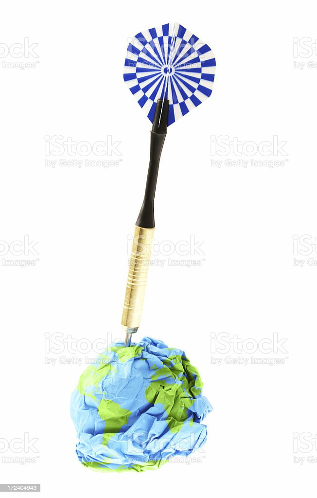 Recycling Target royalty-free stock photo