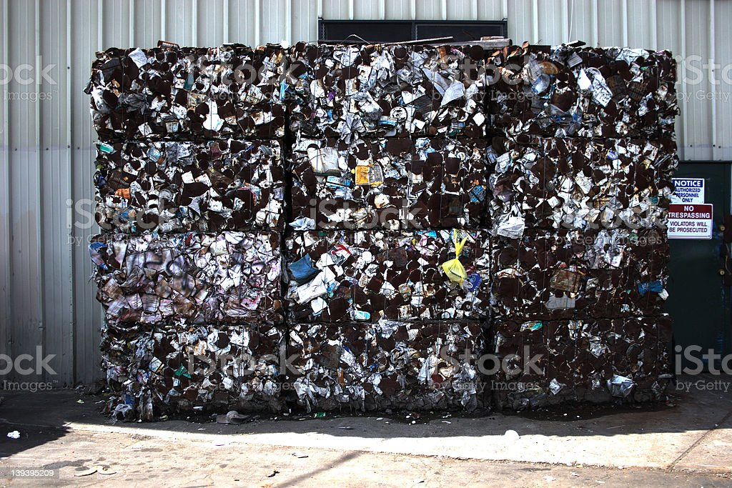 Recycling To Go! stock photo