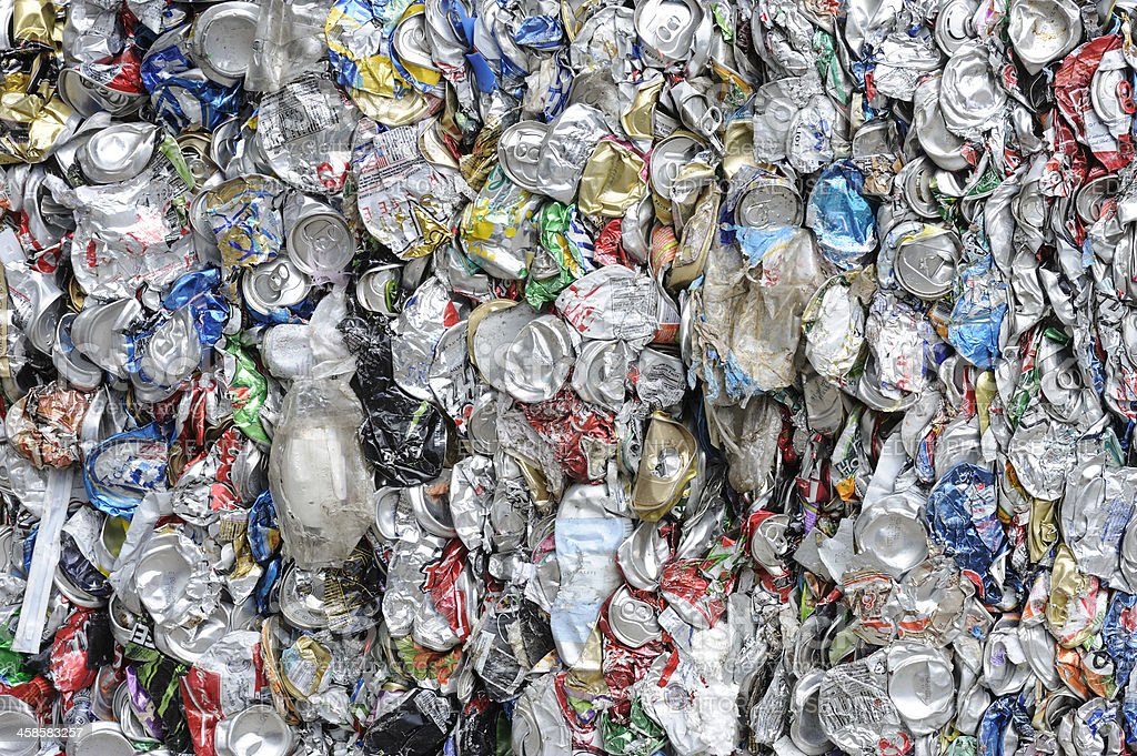 recycling used cans royalty-free stock photo