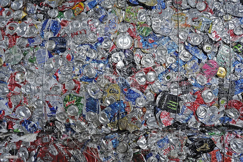 recycling used cans stock photo