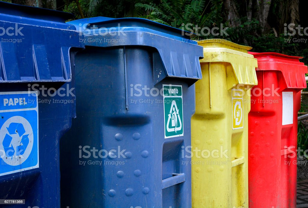 Recycling waste stock photo