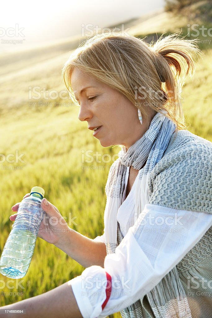Recycling water bottle royalty-free stock photo