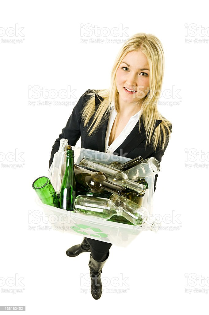 Recycling woman royalty-free stock photo