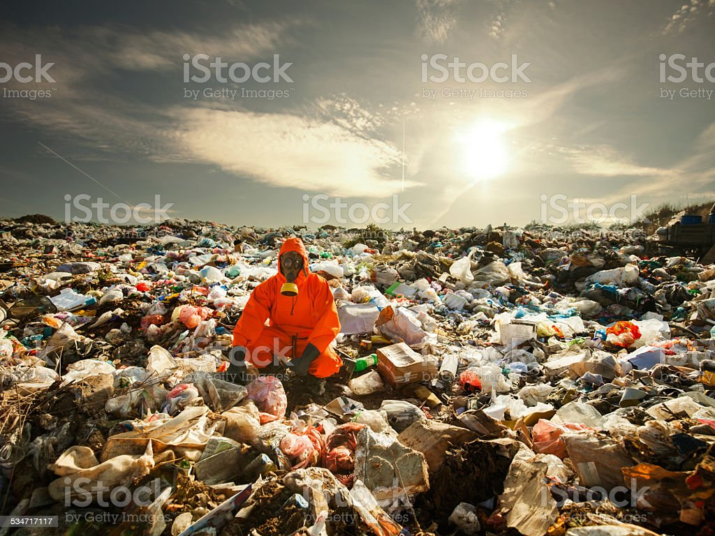 Recycling Worker stock photo