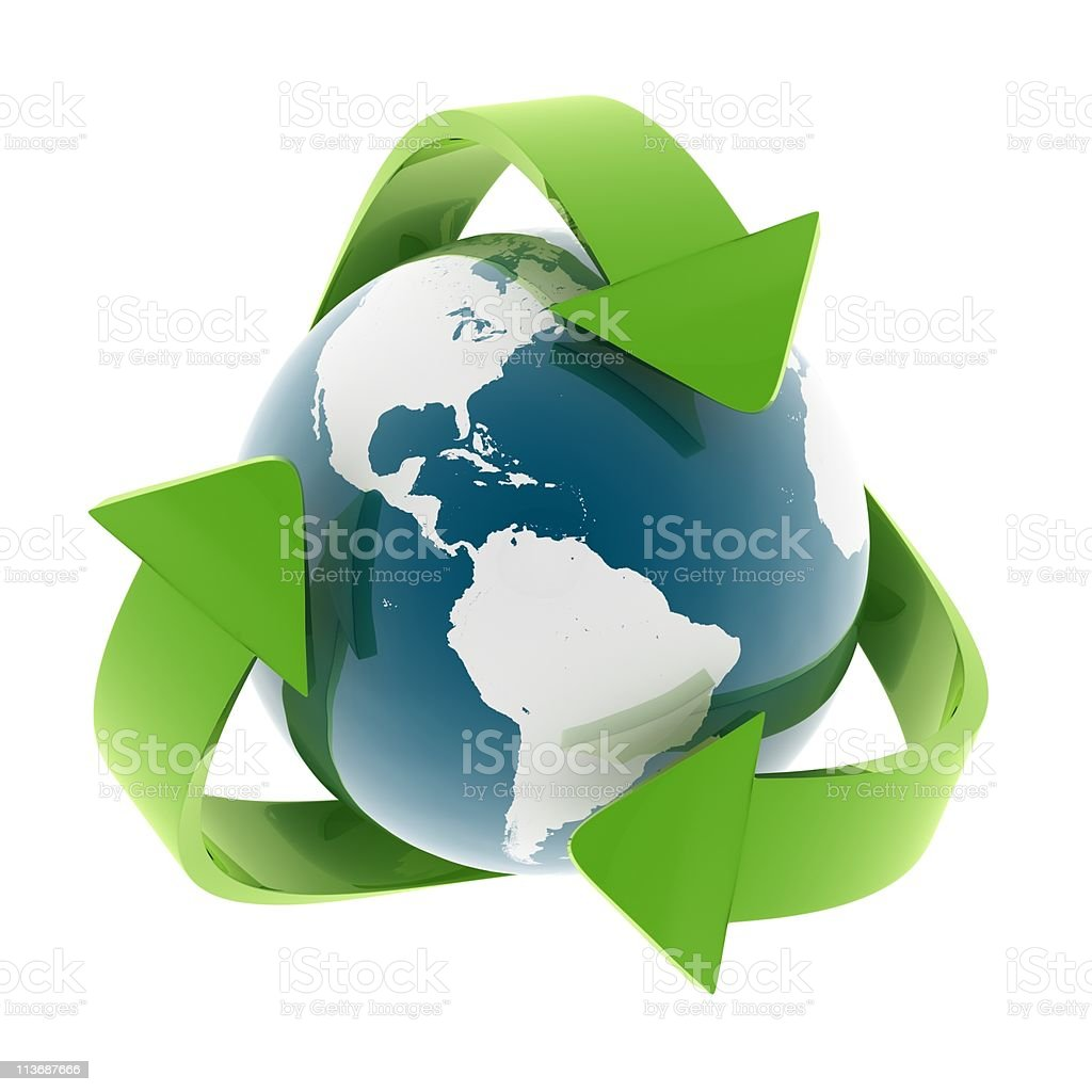 Recycling World stock photo