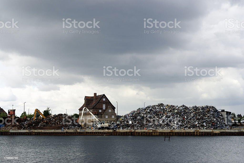 Recykling center royalty-free stock photo