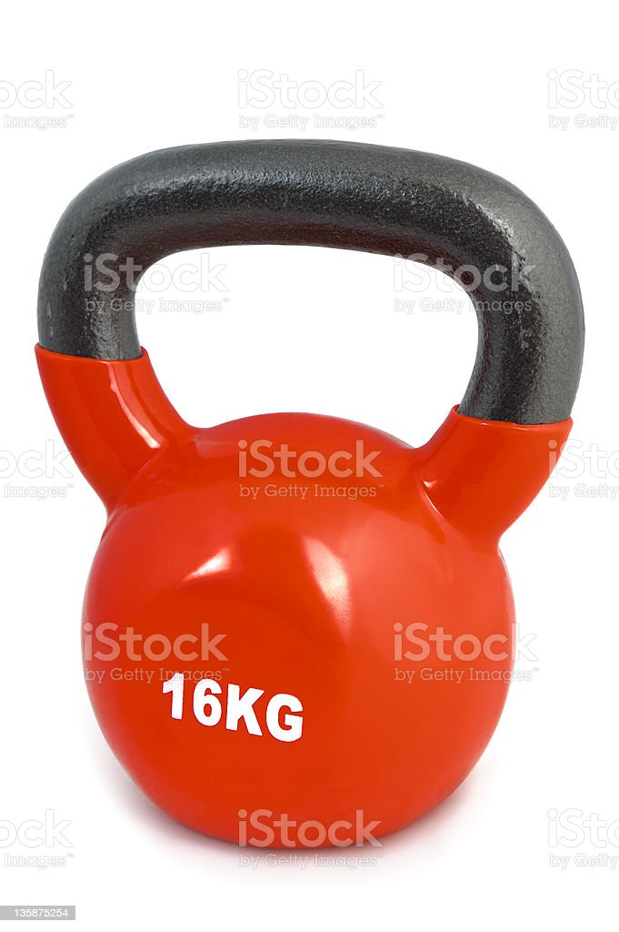 red 16 kg lifting weight royalty-free stock photo