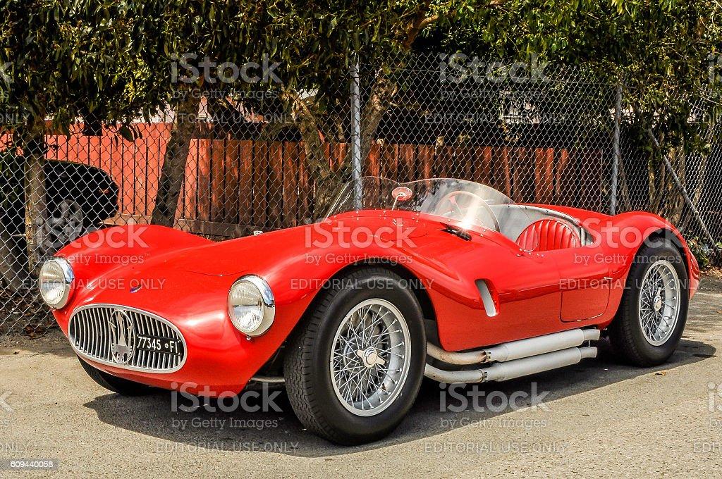 Red 1953 Maserati A6 GCS/53 Spyder stock photo