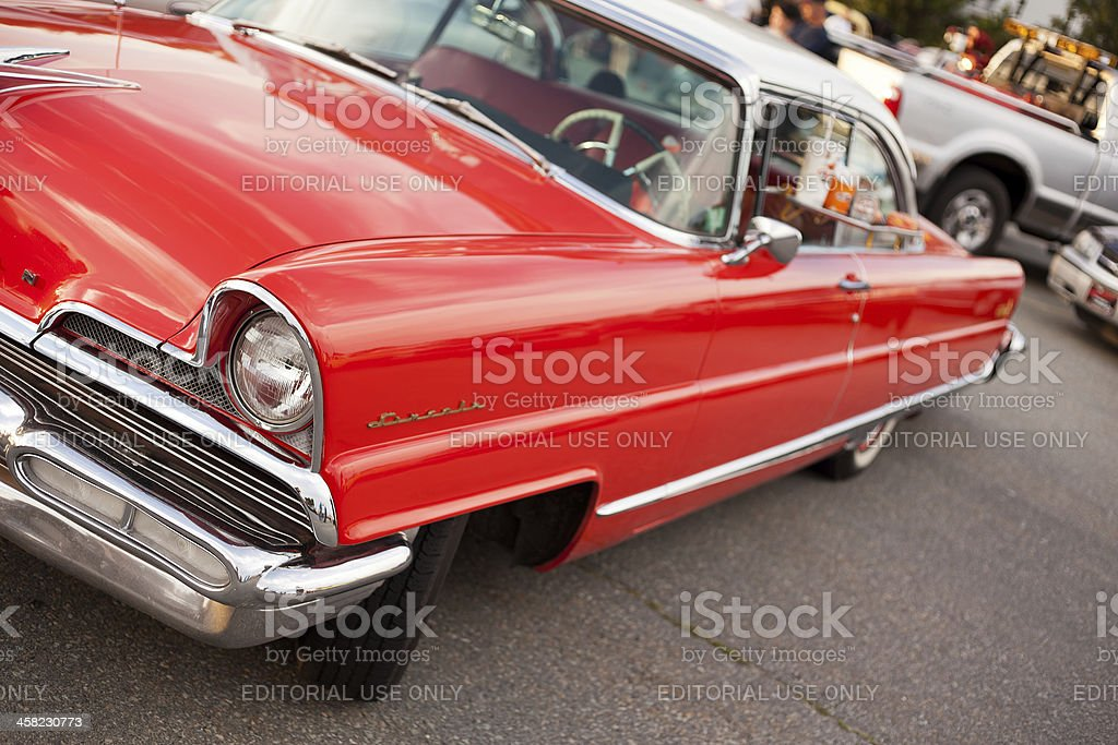 Red 1956 Lincoln Premier stock photo