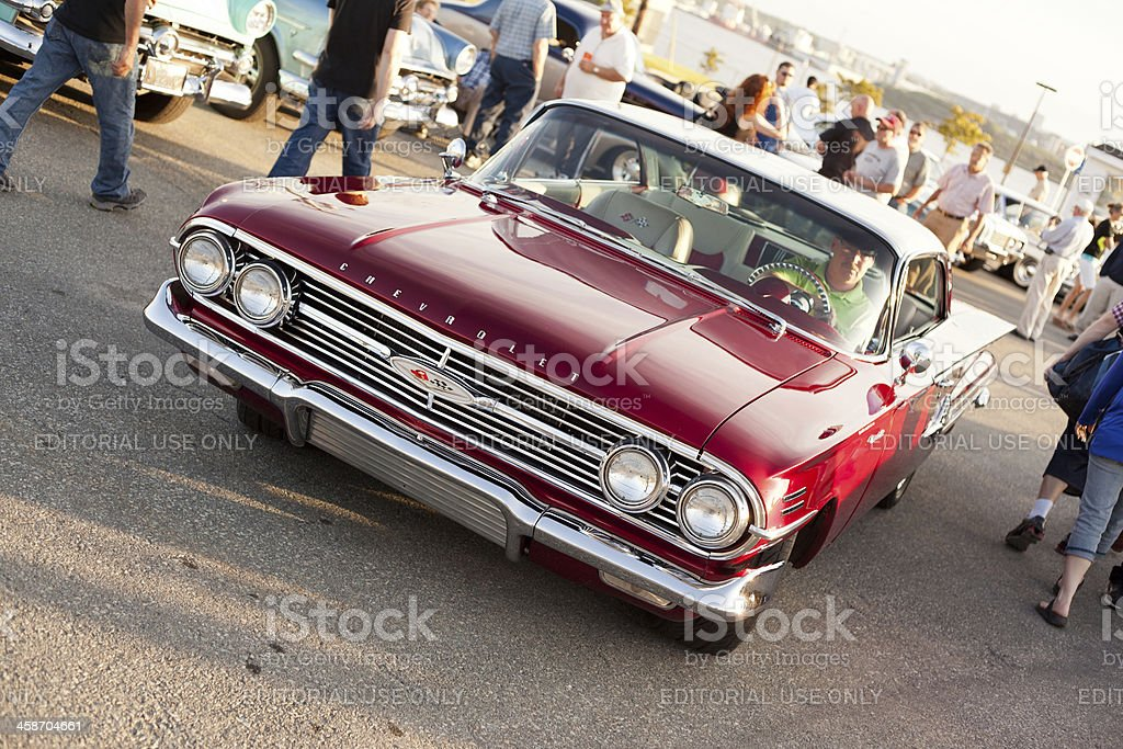 Red 1960 Chevrolet Impala stock photo
