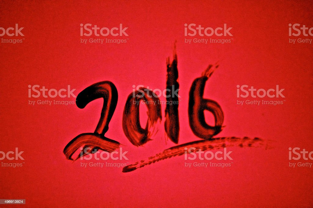 Red 2016 background stock photo