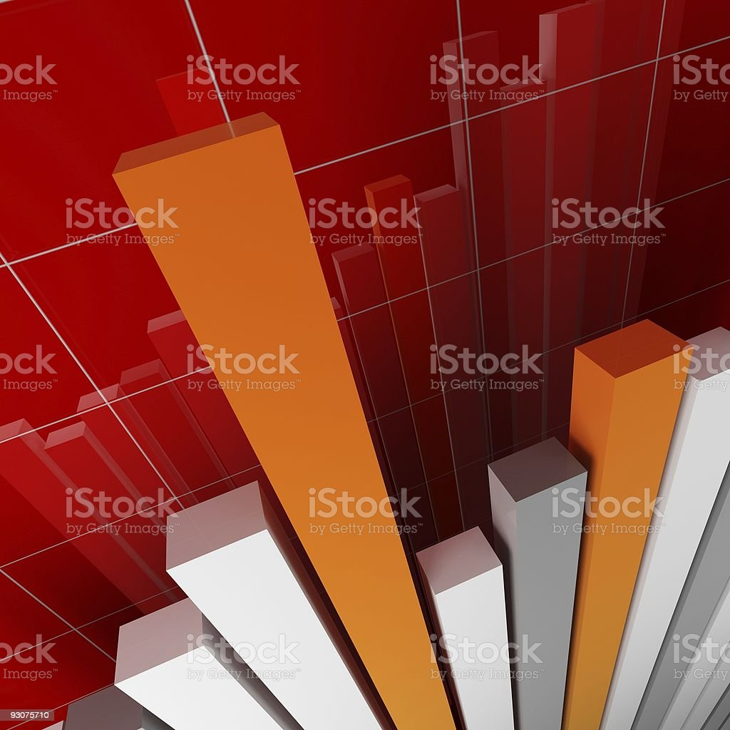 red 3d image of financial stat royalty-free stock photo