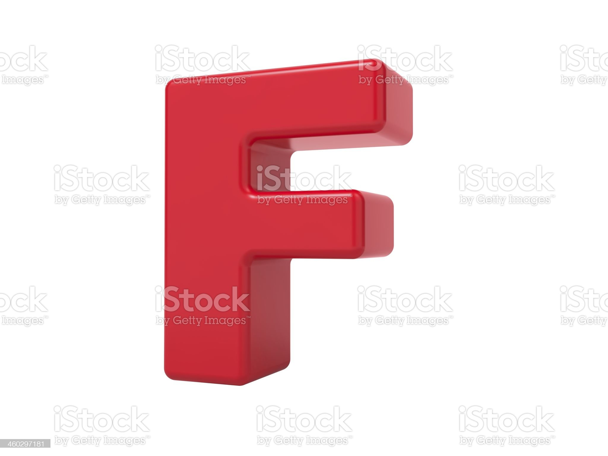 Red 3D Letter F. royalty-free stock photo