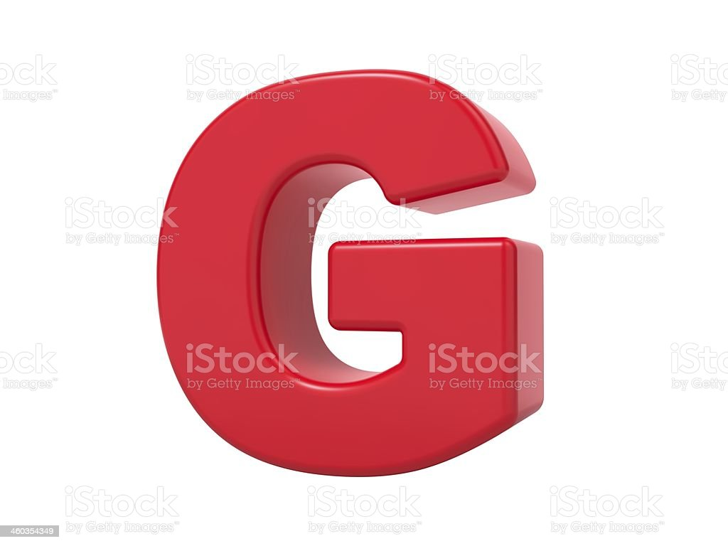 Red 3D Letter G. stock photo