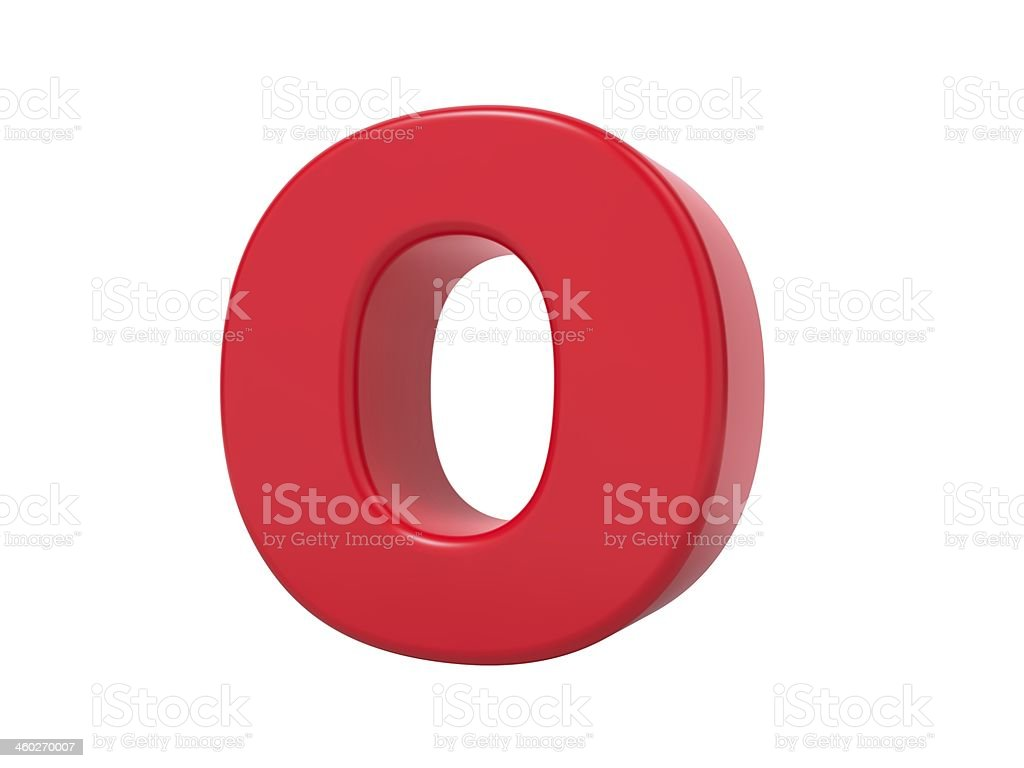 Red 3D Letter O. stock photo