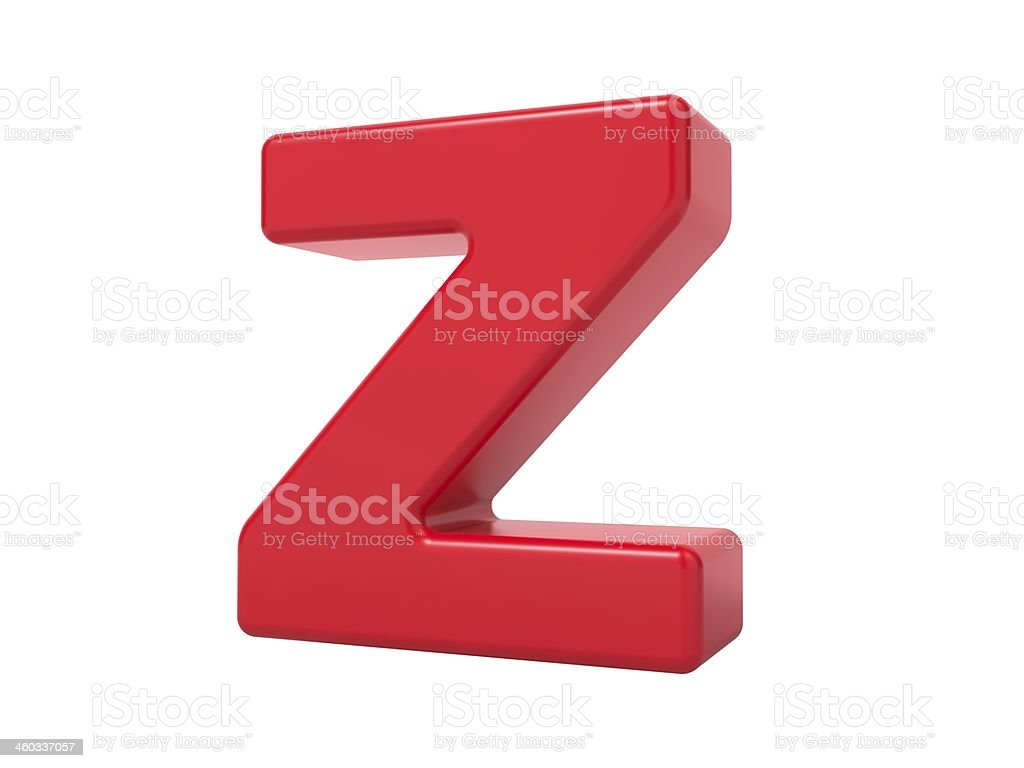 Red 3D Letter Z. stock photo