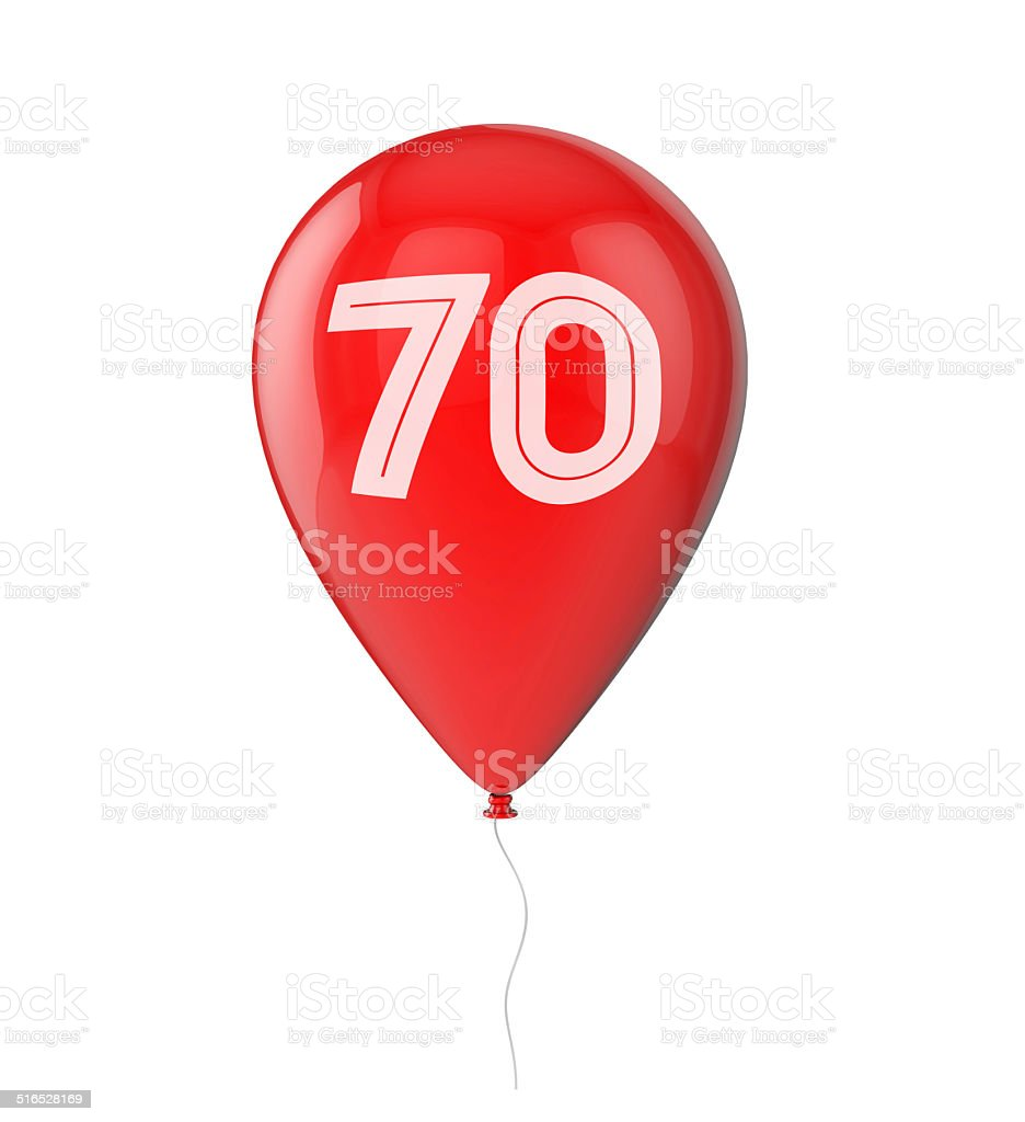 70th Birthday balloon vector art illustration