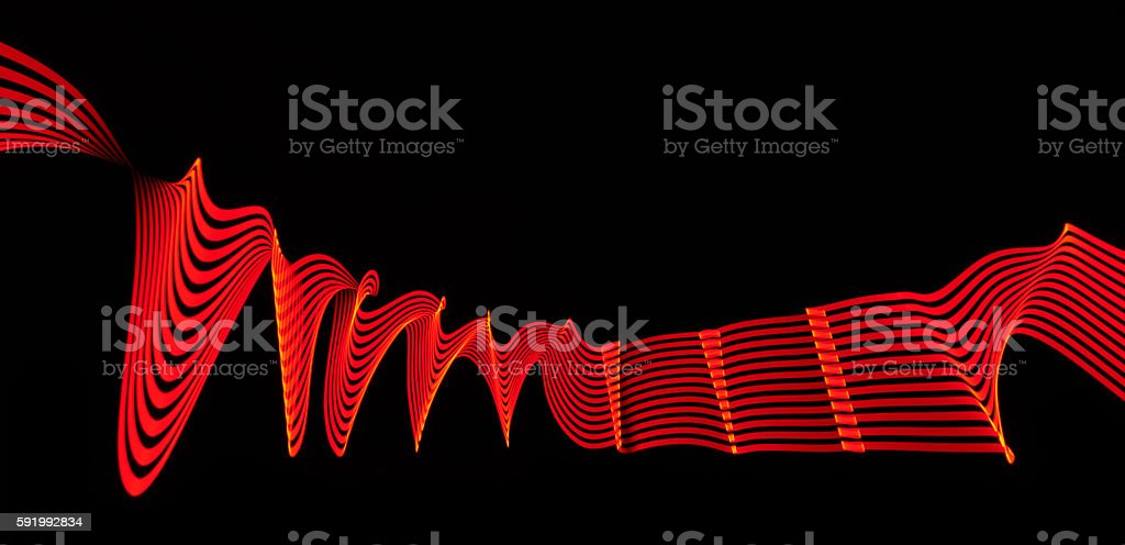 red abstract background with lights in motion stock photo