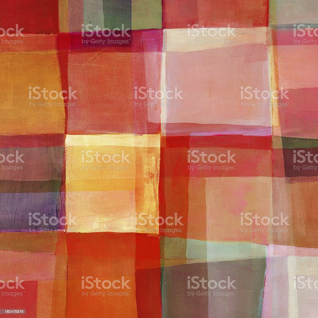 Red Abstract Oil Painting royalty-free stock vector art
