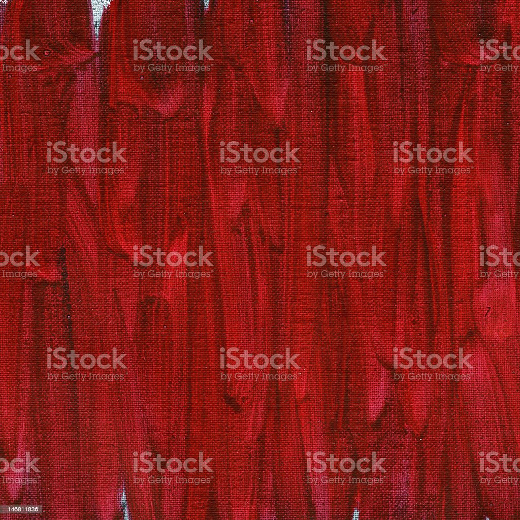 red abstract painted on canvas stock photo
