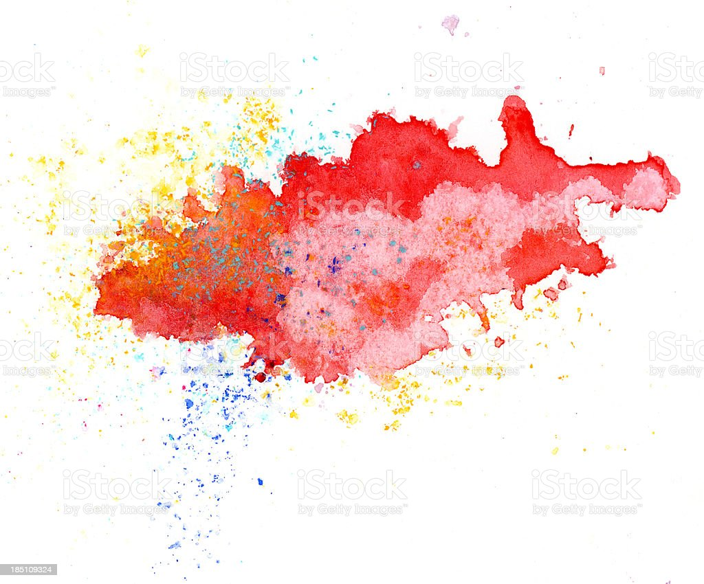 Red abstract painted splash vector art illustration