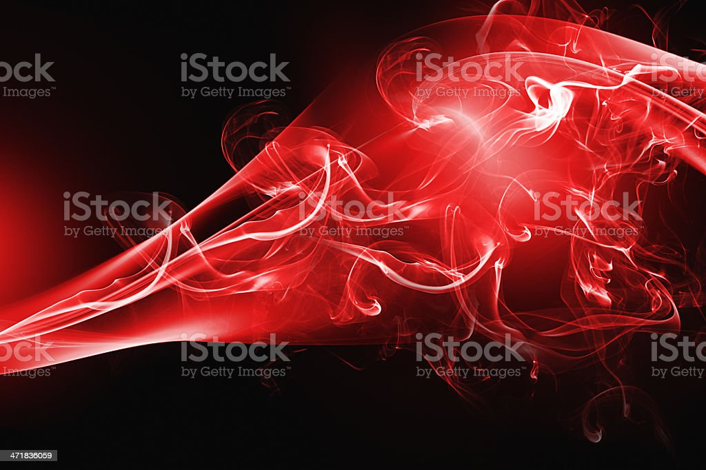 Red abstract smoke design royalty-free stock photo