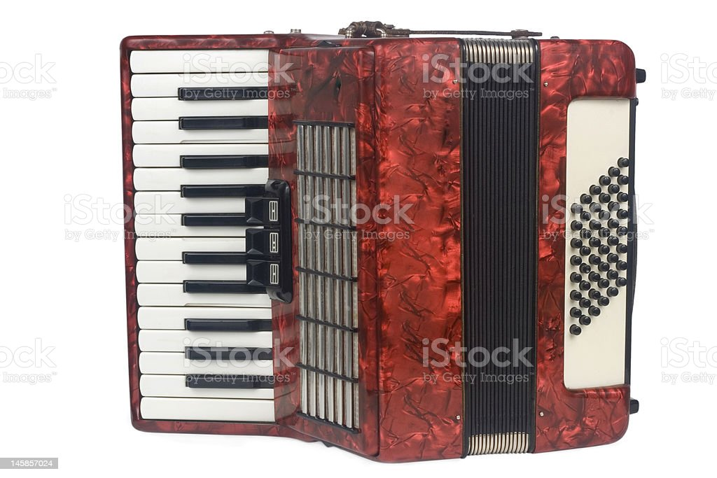 Red Accordion royalty-free stock photo