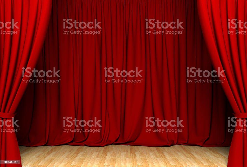 Red act drape stock photo