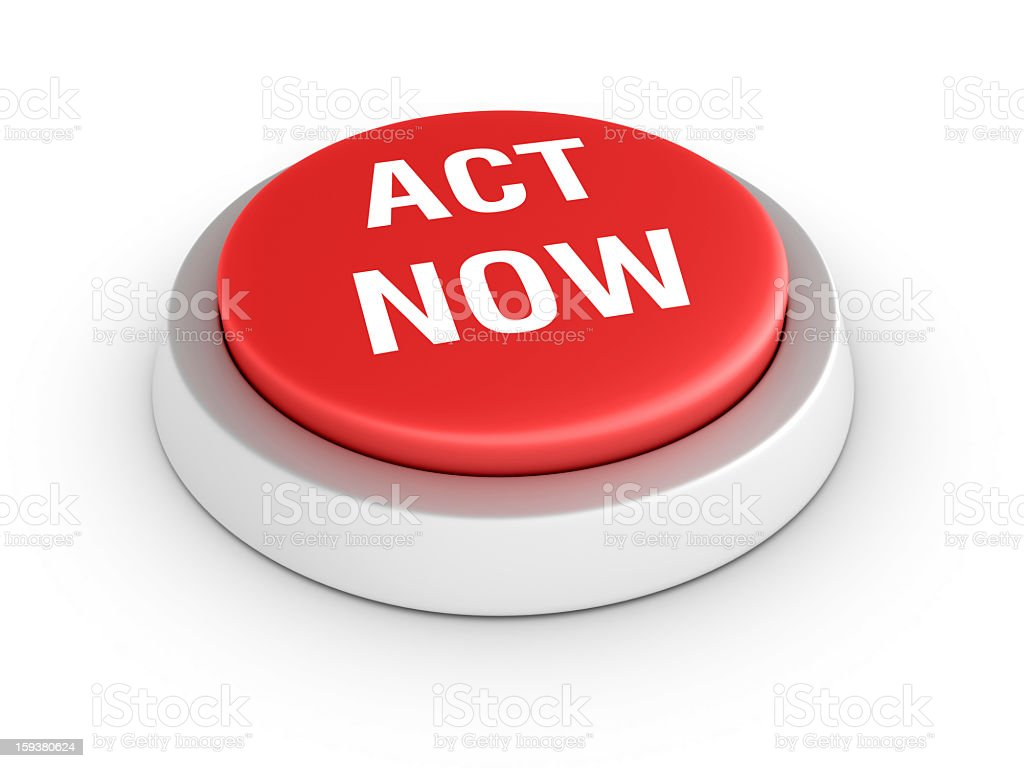 Red ACT NOW Button royalty-free stock photo