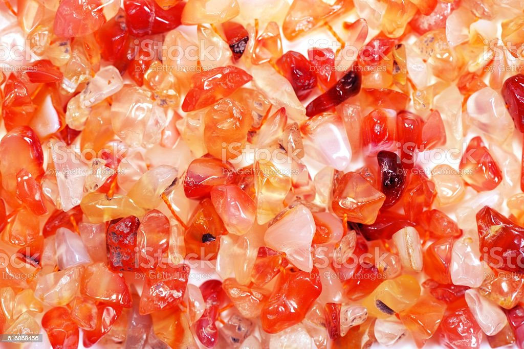 Red agate gem stock photo