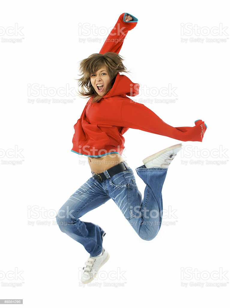 Red air dance royalty-free stock photo