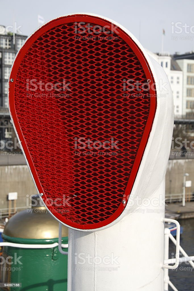 Red air nozzles stock photo