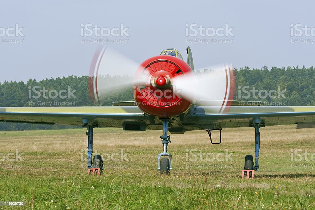 Red airplane royalty-free stock photo