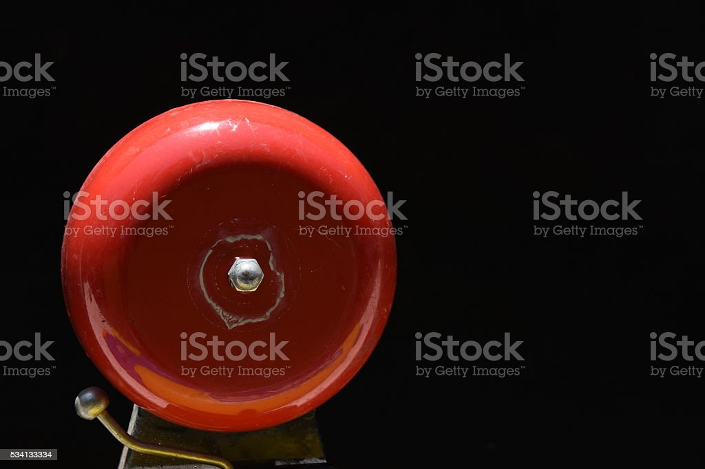 Red Alarm Bell stock photo