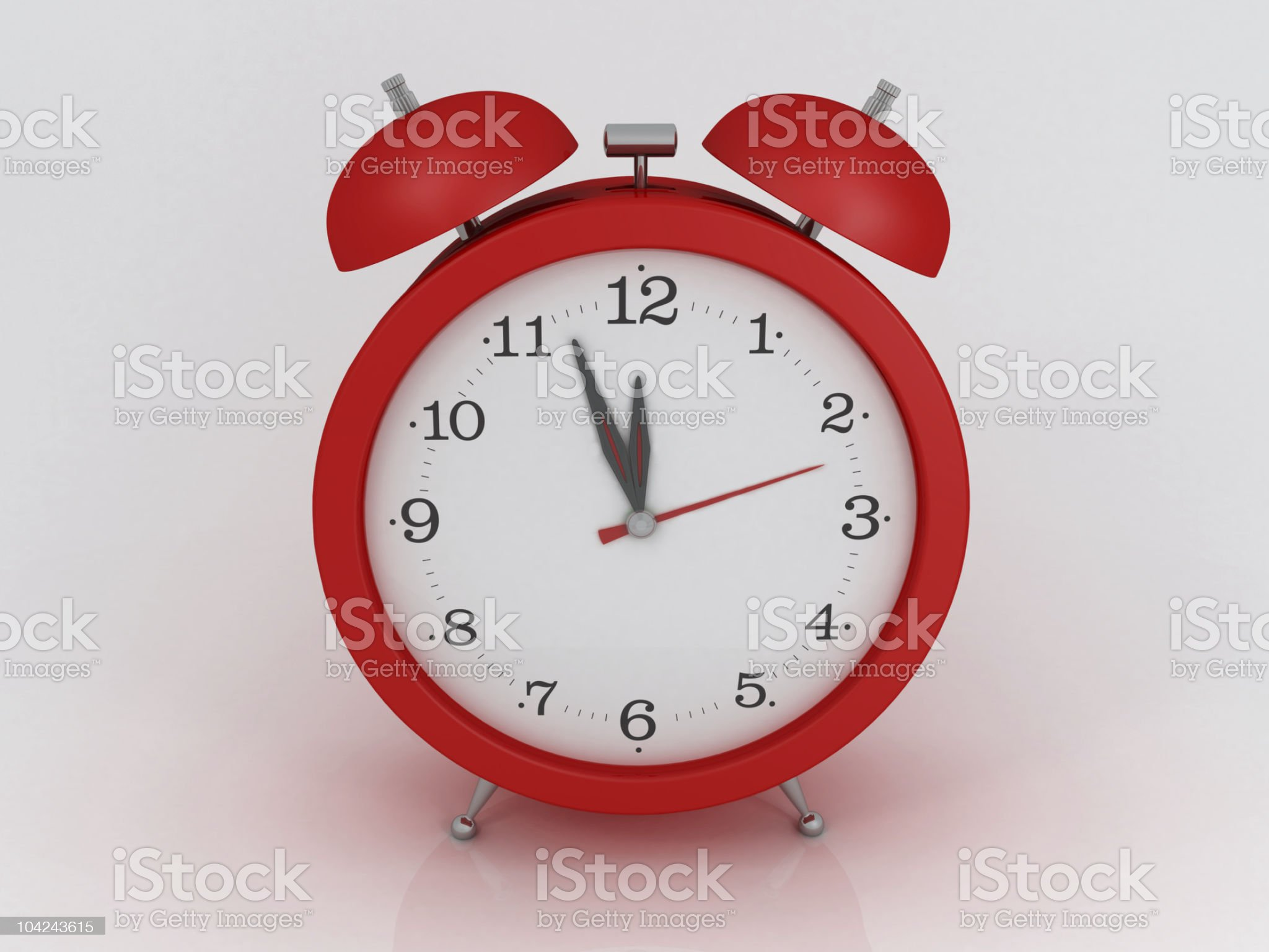 Red alarm clock royalty-free stock photo
