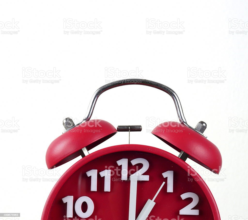 red alarm clock, showing time royalty-free stock photo