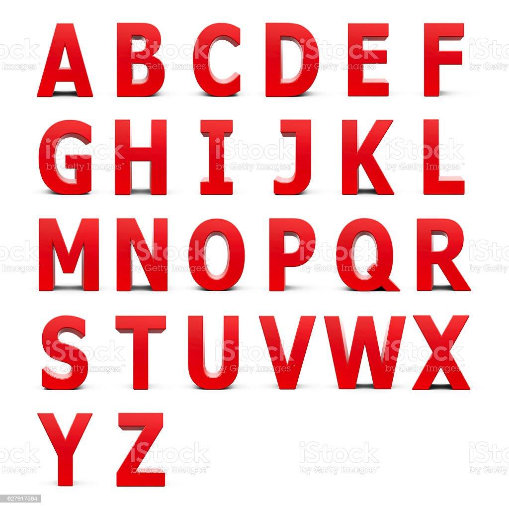 Red Alphabet set stock photo