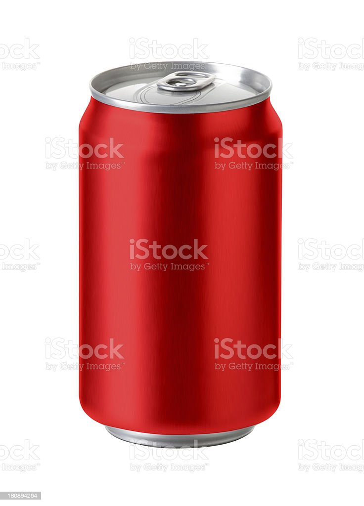 Red aluminum can -  Realistic photo image, stock photo