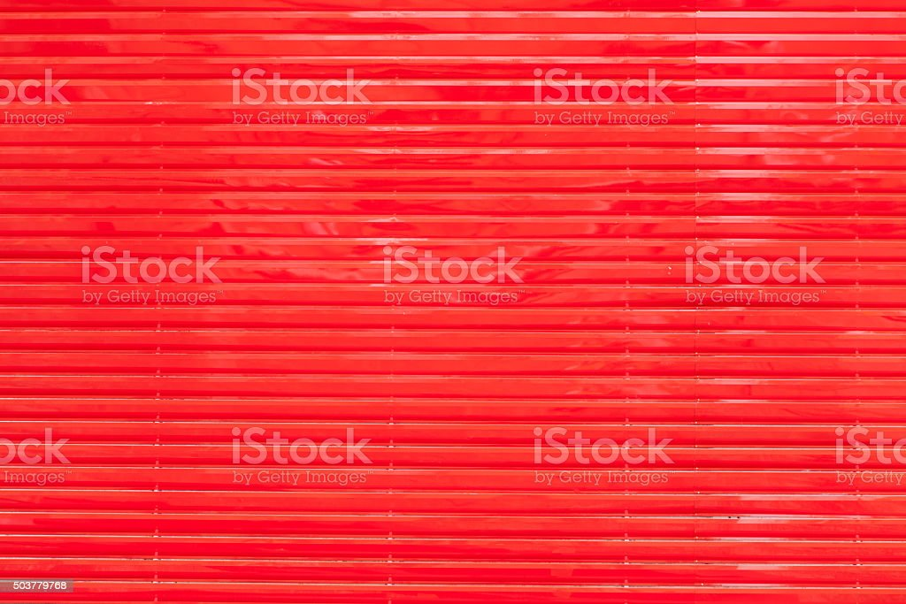 Red aluminum louvers stock photo