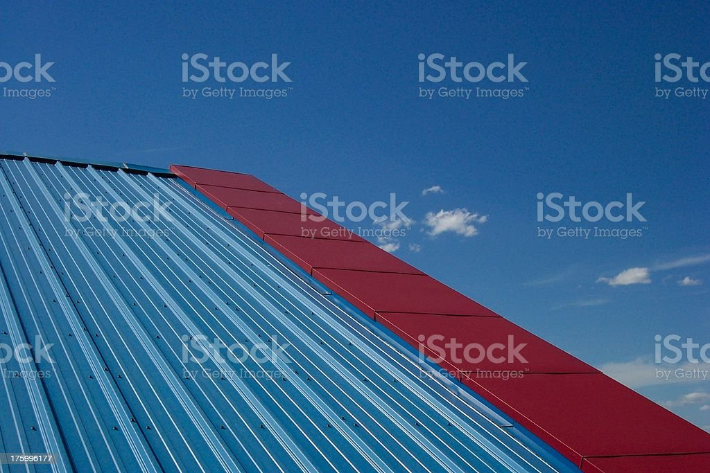 Red & Blue royalty-free stock photo