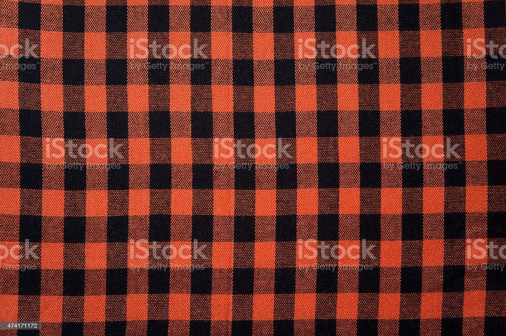 Red anb Black checkered tablecloth texture, background with copy space stock photo