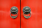 Red Ancient Chinese door