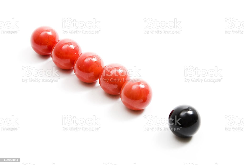 Red and black balls royalty-free stock photo