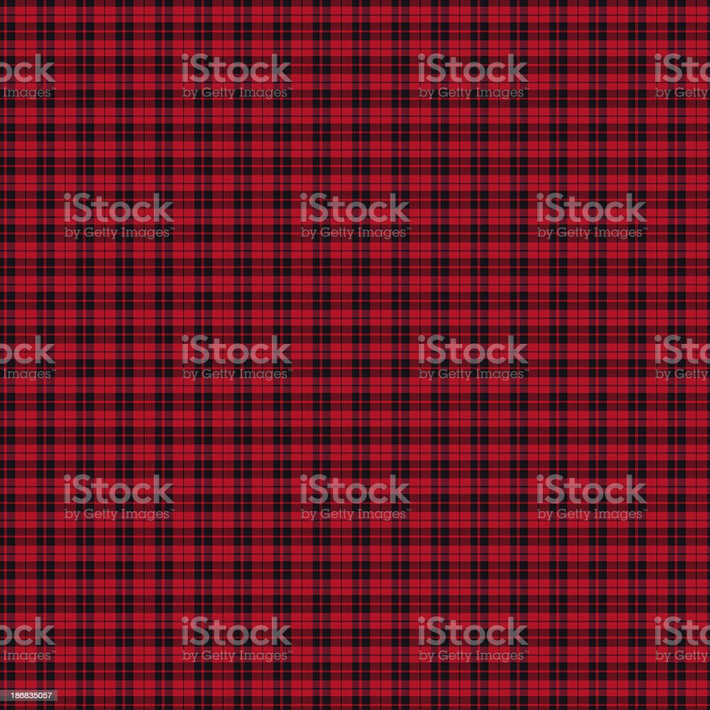 Red and Black Gingham Tablecloth Pattern stock photo