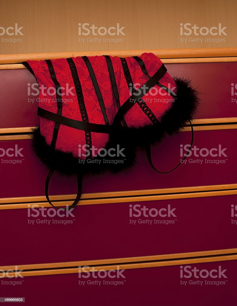 Red and Black Lingerie stock photo