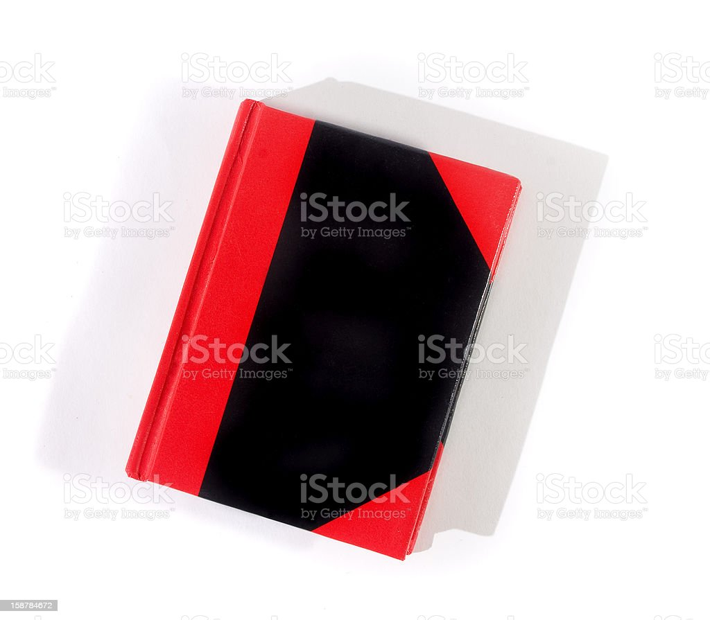 red and black notebook isolated on white background royalty-free stock photo