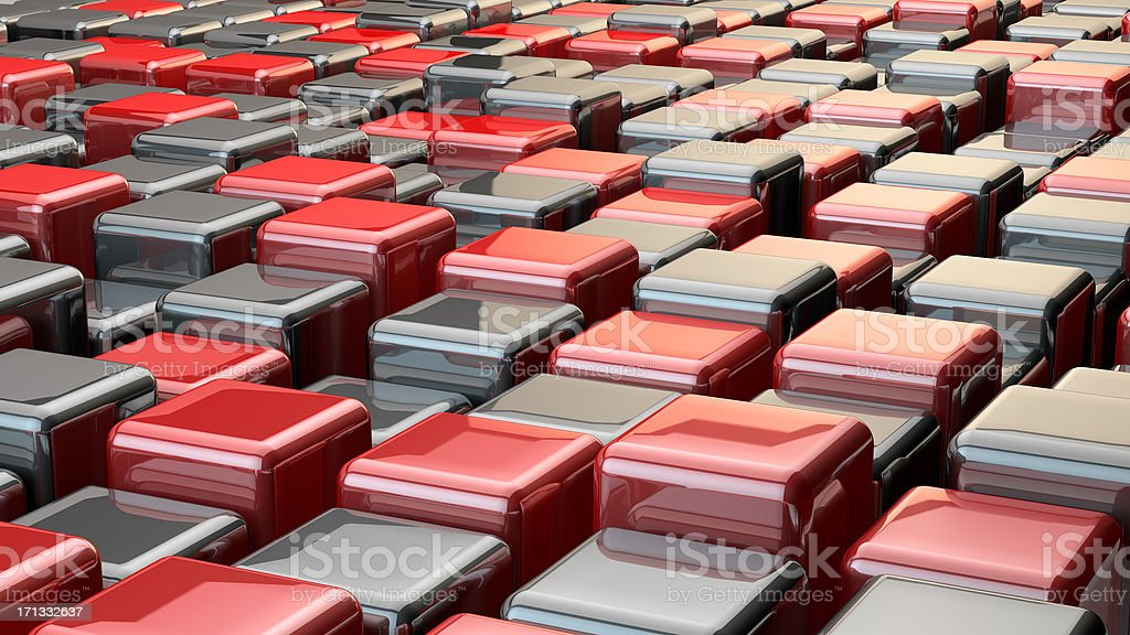Red and black. stock photo