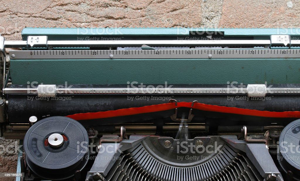 Red and black ribbon of a typewriter royalty-free stock photo