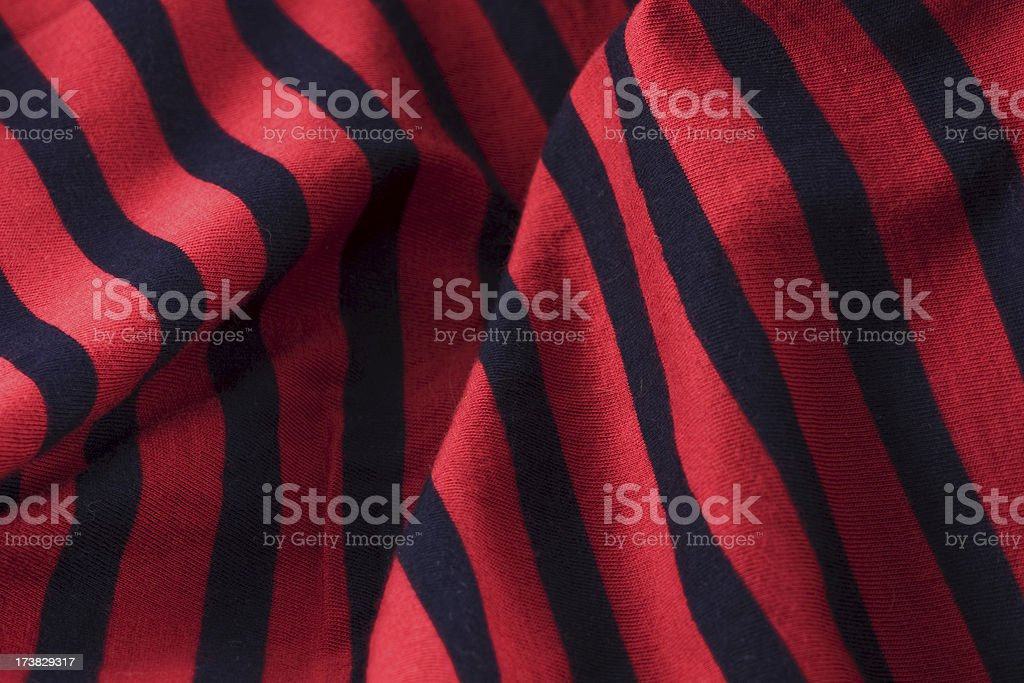 Red and black striped cloth background royalty-free stock photo