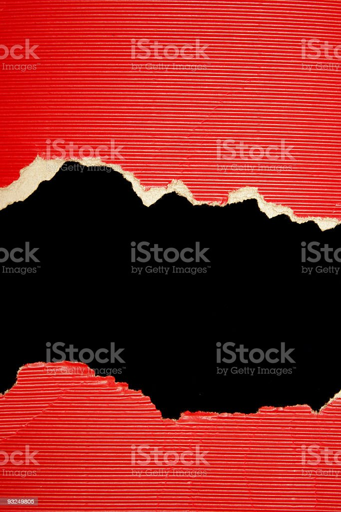 Red and Black Torn Texture royalty-free stock photo